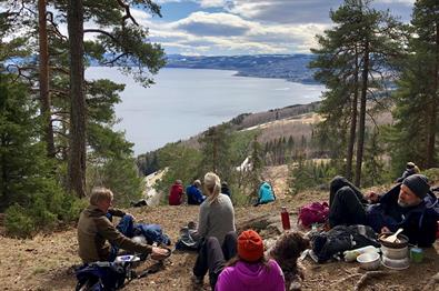 Easy hike along Ramberget near Gjøvik